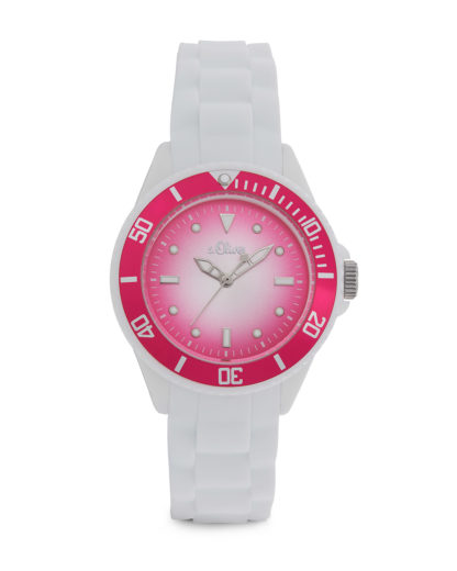 Quarzuhr Colors SO-2697-PQ s.Oliver pink,weiß 4035608025595