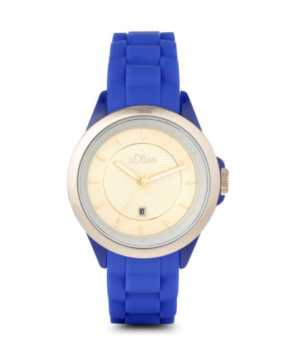Quarzuhr SO-2912-PQ s.Oliver blau,gold 4035608027704
