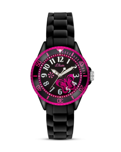 Quarzuhr SO-2993-PQ s.Oliver Junior pink,schwarz 4035608028510
