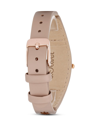 Quarzuhr SO-3003-LQ beige s.Oliver Damen Leder 4035608028619
