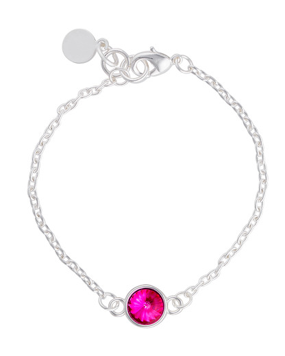 Armband Metall  SNÖ of Sweden pink,silber Glas 7323160268862