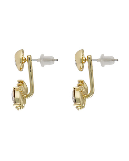 Ohrstecker Ear Jackets Melanie vergoldet SNÖ of Sweden gold,weiß Glas 7323160316853