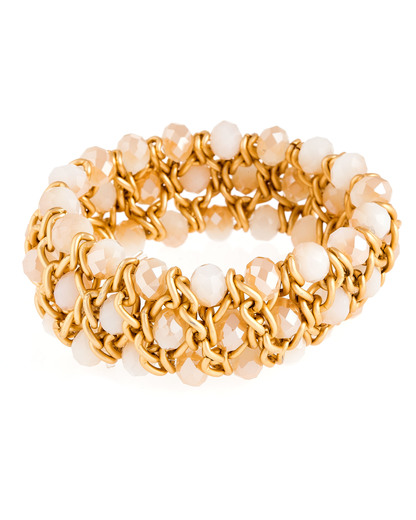 Armband Demy mattgold sand Sweet Deluxe 4052478035509