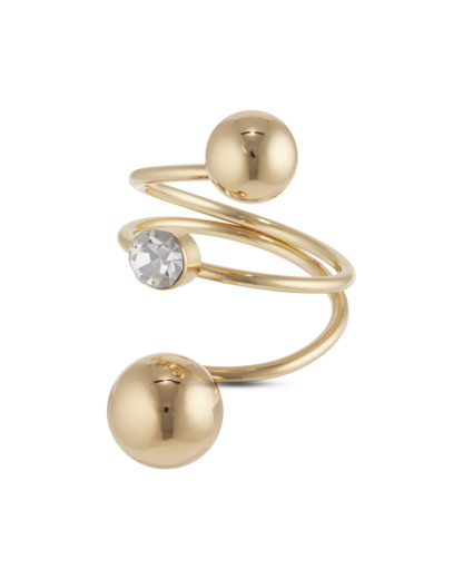 Ringe aus Messing Sweet Deluxe gold,weiß Glas 4052478063335