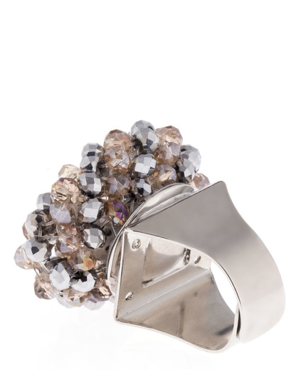 Ring aus Metall Sweet Deluxe gold,silber Glas 4052478009234