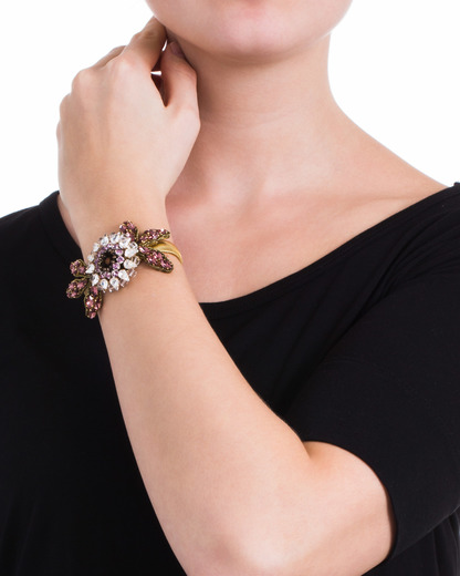 Armband Evergrün Collection TATABORELLO gold,mehrfarbig Glas,Swarovski-Stein 4250945503104
