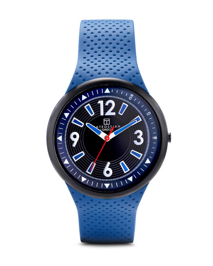 Quarzuhr Racing Time WA0064 Tateossian blau,schwarz 5033502999898