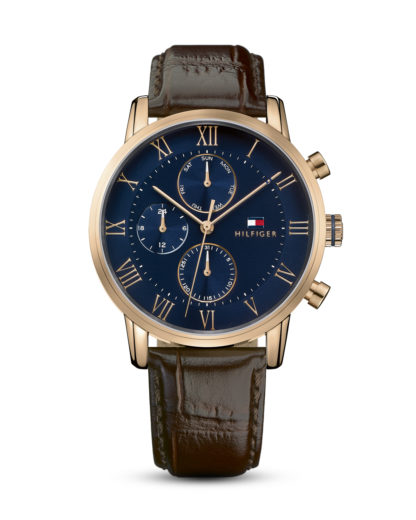Quarzuhr Dressed Up 1791399 Tommy Hilfiger blau,braun,roségold 7613272246828