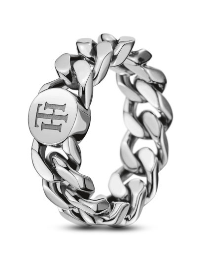 Ring Classic Signature aus Edelstahl Tommy Hilfiger