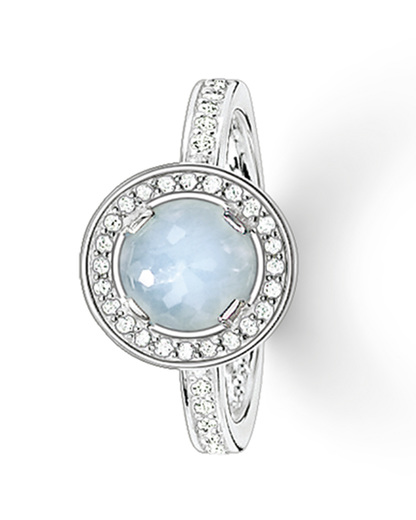 Ring Glam & Soul 925 Sterling Silber mit Aquamarin THOMAS SABO