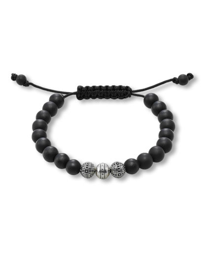 Armband Rebel at Heart aus 925 Sterling Silber mit Obsidianen THOMAS SABO 4051245041767