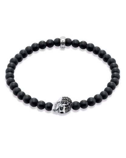 Armband Rebel at Heart aus Obsidian & 925 Sterling Silber THOMAS SABO 4051245110357