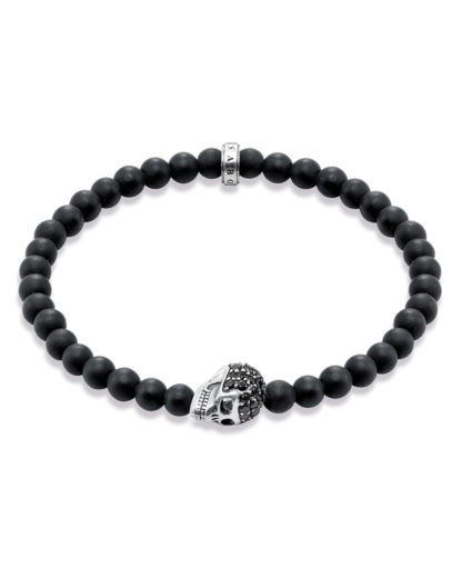 Armband Rebel at Heart aus Obsidian & 925 Sterling Silber THOMAS SABO 4051245110364