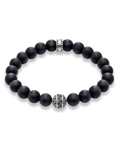 Armband Rebel at Heart aus Obsidian & 925 Sterling Silber THOMAS SABO 4051245157642