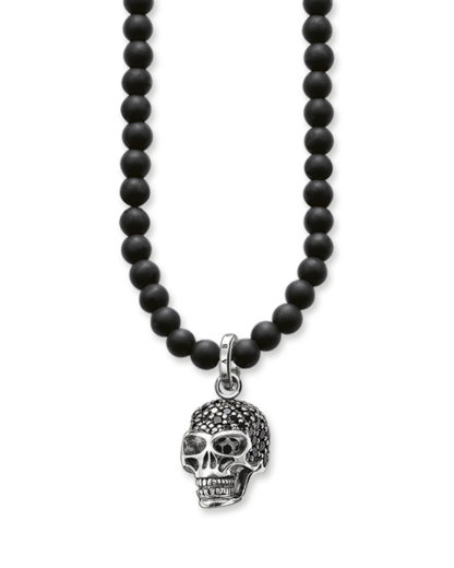 Halskette Rebel at Heart aus Obsidian & 925 Sterling Silber THOMAS SABO 4051245111774