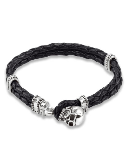 Armband Rebel at Heart aus Leder & 925 Sterling Silber THOMAS SABO 4051245042276
