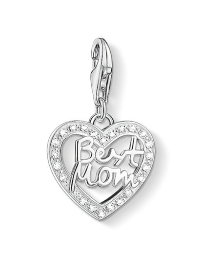 Charm Best Mom aus 925 Sterling Silber mit Zirkonia THOMAS SABO CHARM CLUB 4051245207385