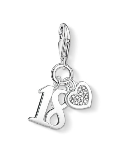 Charm 18 aus 925 Sterling Silber mit Diamanten THOMAS SABO CHARM CLUB 4051245207644
