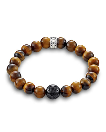 Armband Rebel at Heart mit Tigeraugen & Obsidian THOMAS SABO