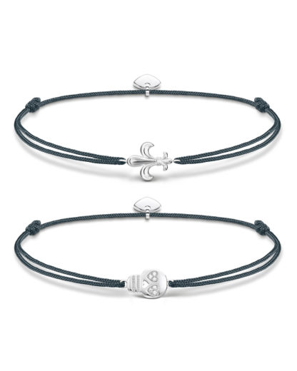 Set mit Armbändern Little Secret aus Nylon & 925 Sterling Silber mit Zirkonia THOMAS SABO 4051245363500