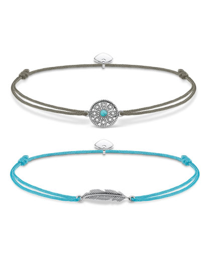 Set mit Armbändern Little Secret aus Nylon & 925 Sterling Silber mit Zirkonia THOMAS SABO 4051245363524