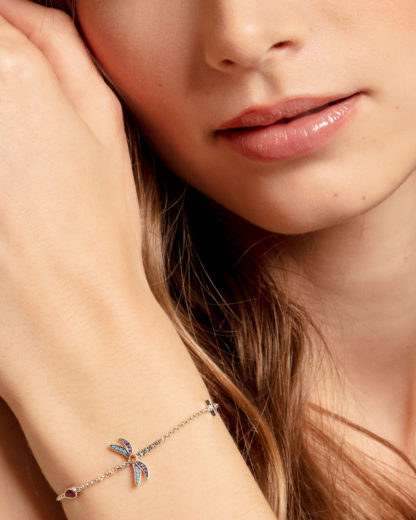 Armband Glam & Soul aus 925 Sterling Silber mit Zirkonia THOMAS SABO Silber Glas,Synthetischer Korund,Synthetischer Spinell,Zirkonia 4051245430325