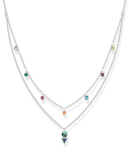 Halskette Glam & Soul aus 925 Sterling Silber & Abalone mit Zirkonia THOMAS SABO 4051245430813