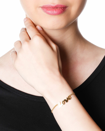 Armband Love Messing vergoldet TomShot gold Kein Schmuckstein 4055212001129
