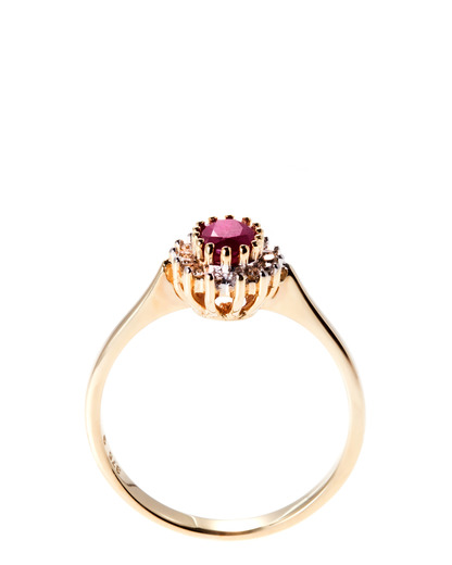 Ring 375 Gold Goldvogel Berlin gold Rubin,Diamant