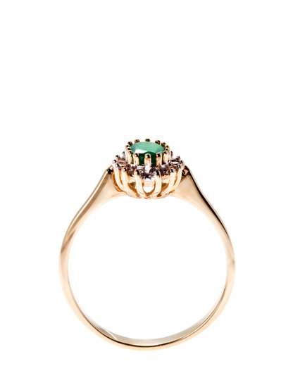Ring 375 Gold Goldvogel Berlin gold Smaragd,Diamant