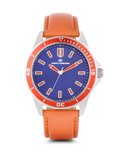 Quarzuhr 5412503 TOM TAILOR blau,orange 3660895736551