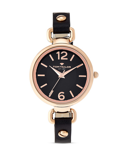 Quarzuhr 5413001 TOM TAILOR roségold,schwarz 3660895810671