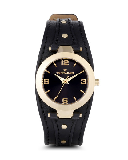 Quarzuhr 5413101 TOM TAILOR gold,schwarz 3660895810701