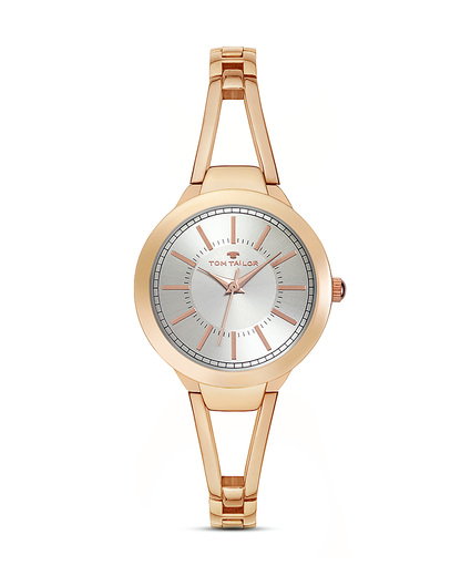 Quarzuhr 5413803 TOM TAILOR roségold,silber 3660895847844