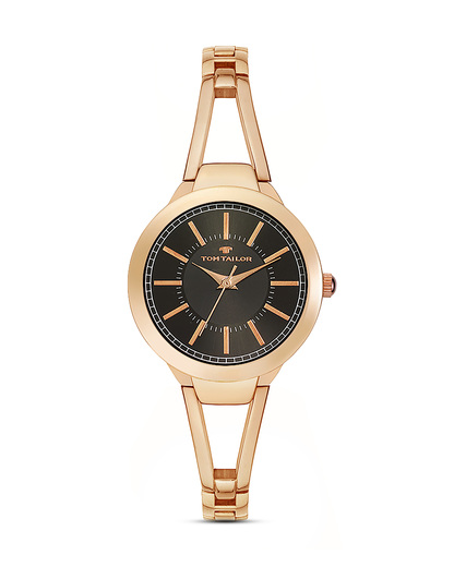Quarzuhr 5413801 TOM TAILOR roségold,schwarz 3660895847820