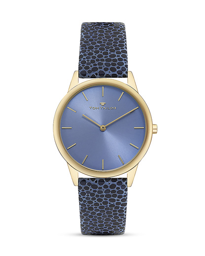 Quarzuhr 5414704 TOM TAILOR blau,gold 3660895871986