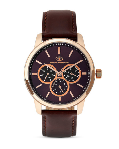 Quarzuhr 5410403 TOM TAILOR braun,roségold 3660895659836