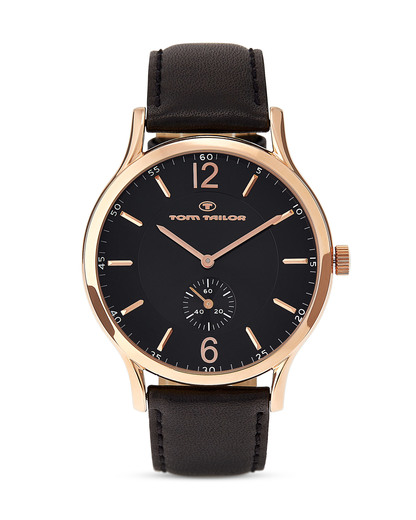 Quarzuhr 5411602 TOM TAILOR roségold,schwarz 3660895700545