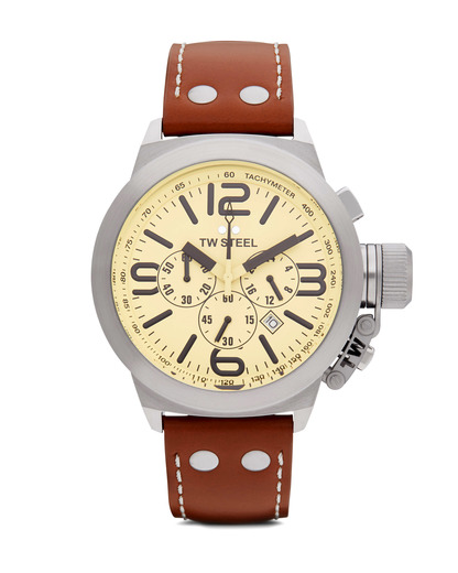 Chronograph Canteen Style TW 5 TW Steel beige,braun,silber 4046261700057