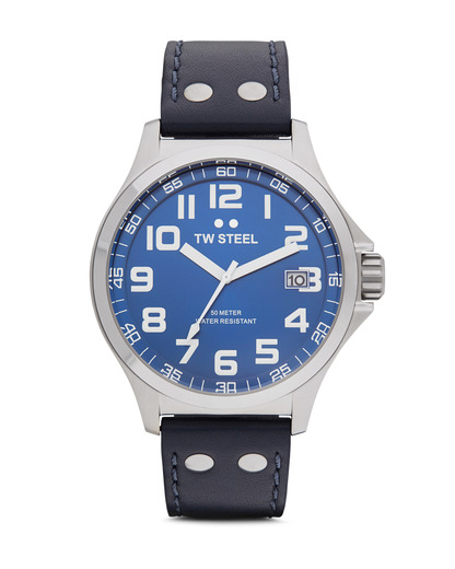 Quarzuhr Pilot Collection TW-400 TW Steel blau,silber 4046261703027
