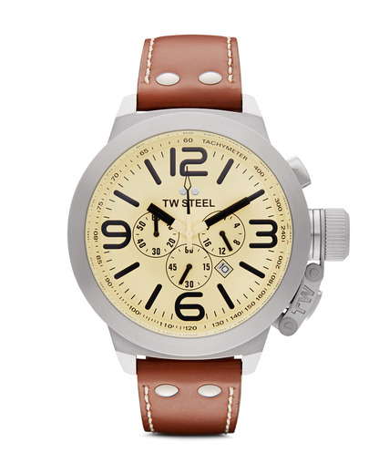 Chronograph Canteen Style TW 3 TW Steel braun,gelb,silber 4046261700033