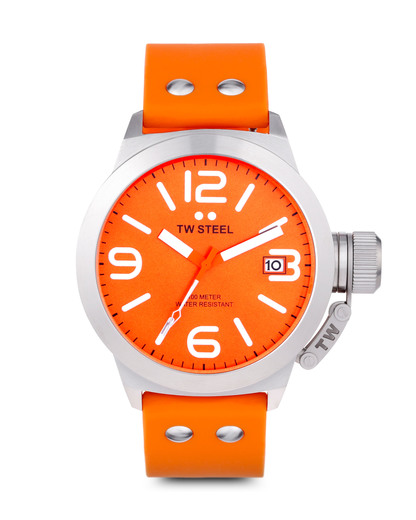 Quarzuhr Canteen Style TW-530 TW Steel orange,silber 4046261703911