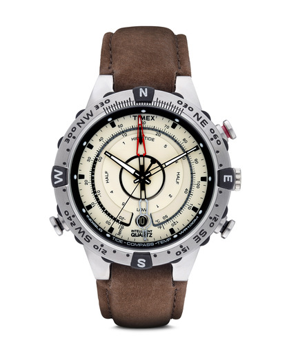 Quarzuhr Intelligent Quartz™ Tide Temp Compass T2N721 TIMEX beige,braun,silber 753048392964