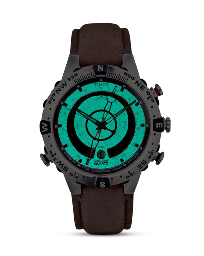 Quarzuhr Intelligent Quartz™ Tide Temp Compass T2N721 TIMEX Herren Leder 753048392964