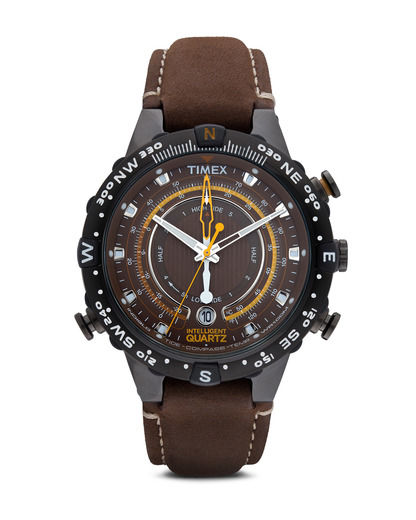 Quarzuhr Intelligent Quartz™ Tide Temp Compass T2P141 TIMEX braun,schwarz 753048442843