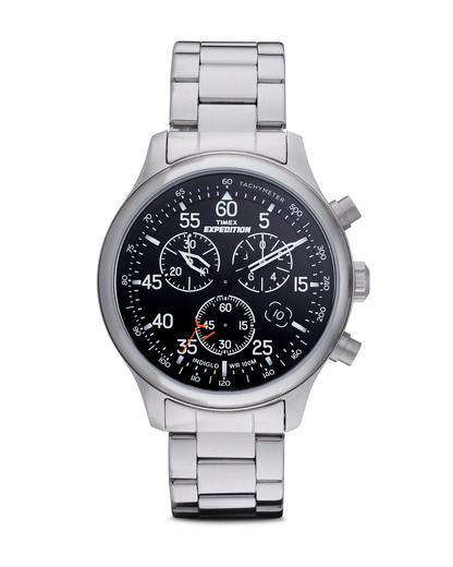 Chronograph Expedition Field Chrono T49904 TIMEX schwarz,silber 753048414277