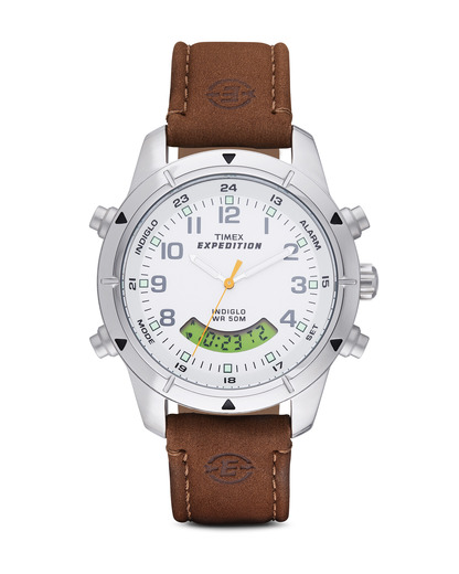 Quarzuhr Expedition Metal Combo T49828 TIMEX braun,silber,weiß 753048353743