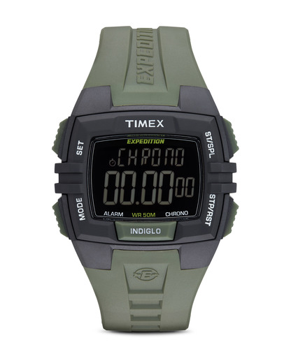Digitaluhr Expedition Chrono Alarmfunktion Timer T49903 TIMEX grau,grün,schwarz 753048414260