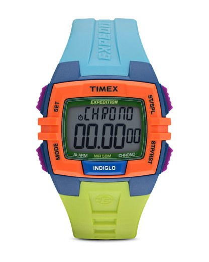 Digitaluhr Expedition Chrono Alarmfunktion Timer T49922 TIMEX grau,mehrfarbig,orange 753048443369