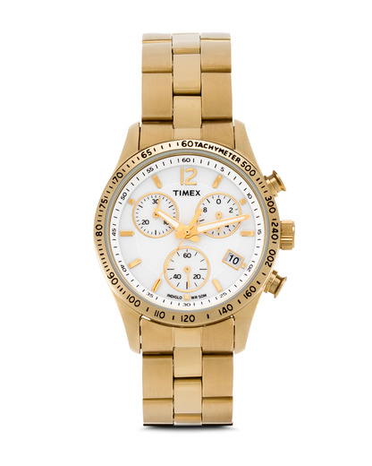Chronograph T2P058 TIMEX gold,weiß 753048446070